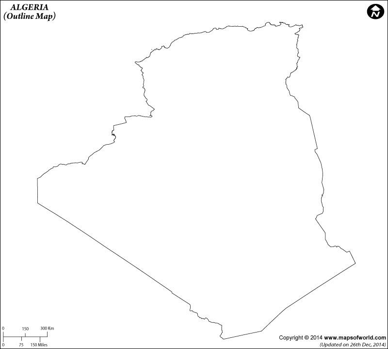 Algeria Time Zone Map
