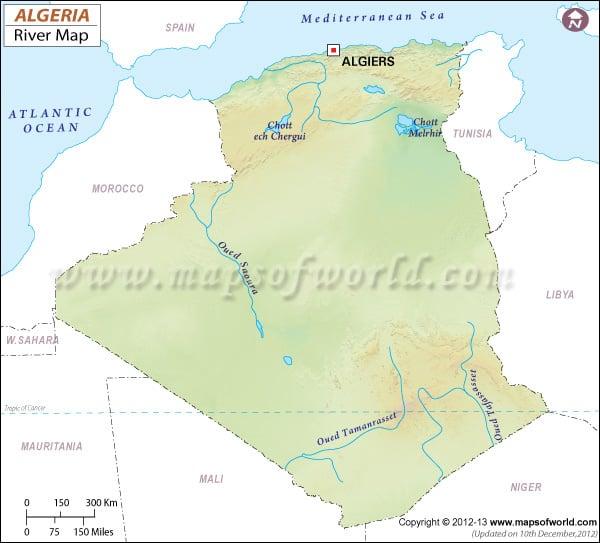 Algeria River Map