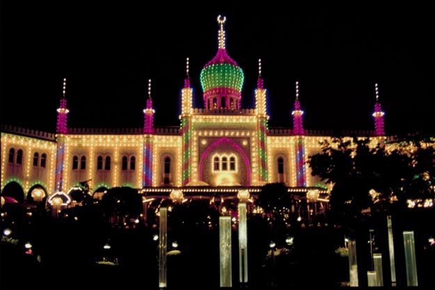 Tiovoli Gardens is the most visited theme park in Scandinavia and the second oldest amusement park still in use in the world.