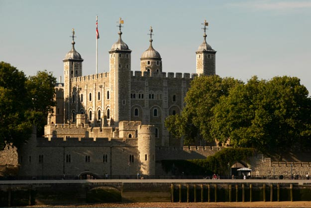 The Tower of London, a royal palace made up of a complex of several buildings, which was built as a place to protect and control the city of London, United Kingdom.