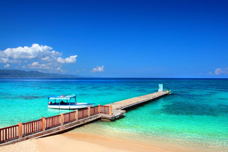 Doctor's Cave Beach Club at Montego Bay, Jamaica