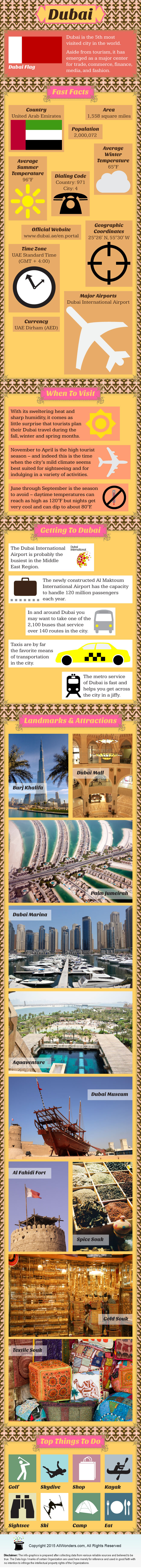 Dubai Travel Infographic
