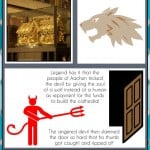 Aachen Cathedral Travel Infographic showing the facts about Aachen Cathedral in Germany.