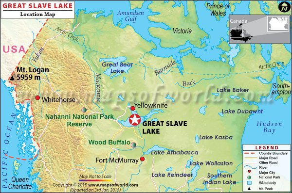 Location map of Great slave lake