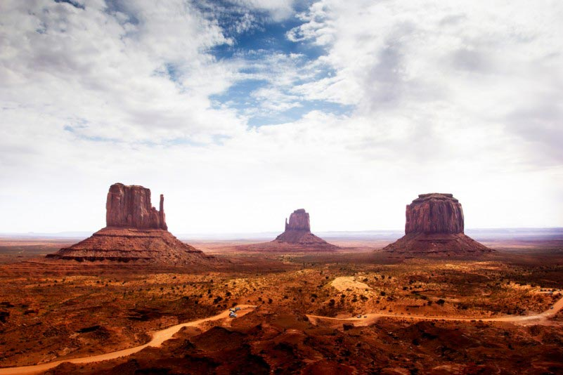 Monument Valley on Arizona-Utah Border