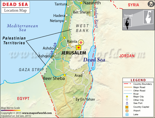 Dead Sea Location Map