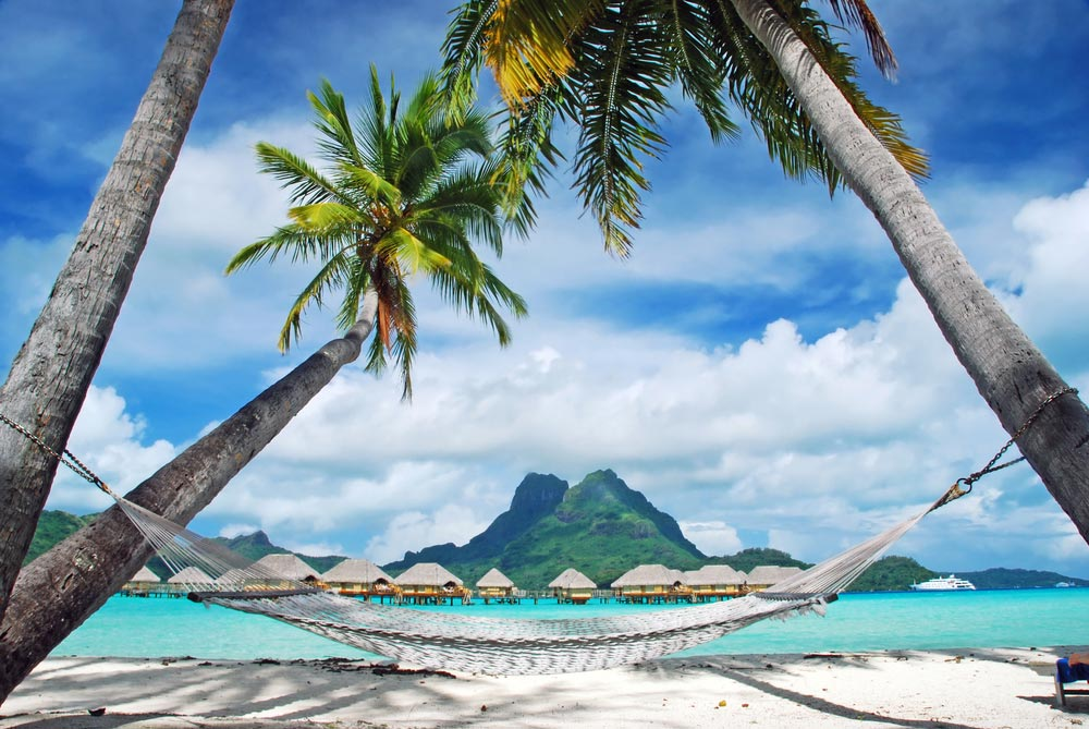 View of Bora Bora Island, French Polynesia