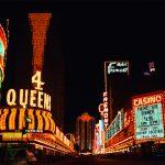 Las Vegas Strip glitters through the night.
