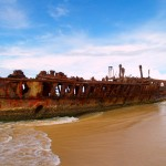 Shipwreck at Fraser Island.