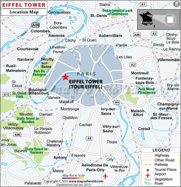 eiffel tower travel information facts map best time to