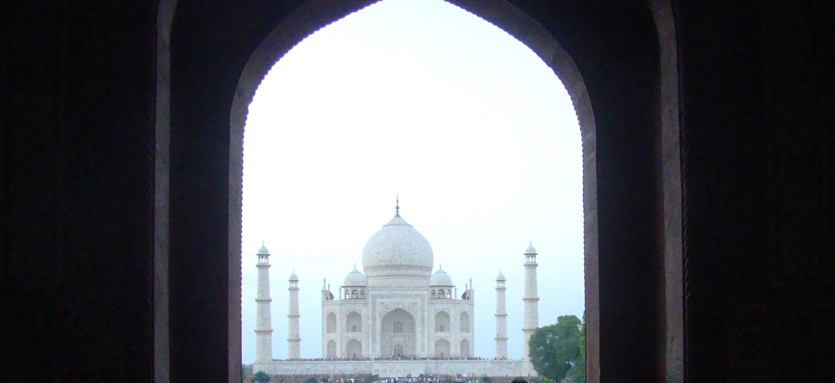 Taj Mahal from the window