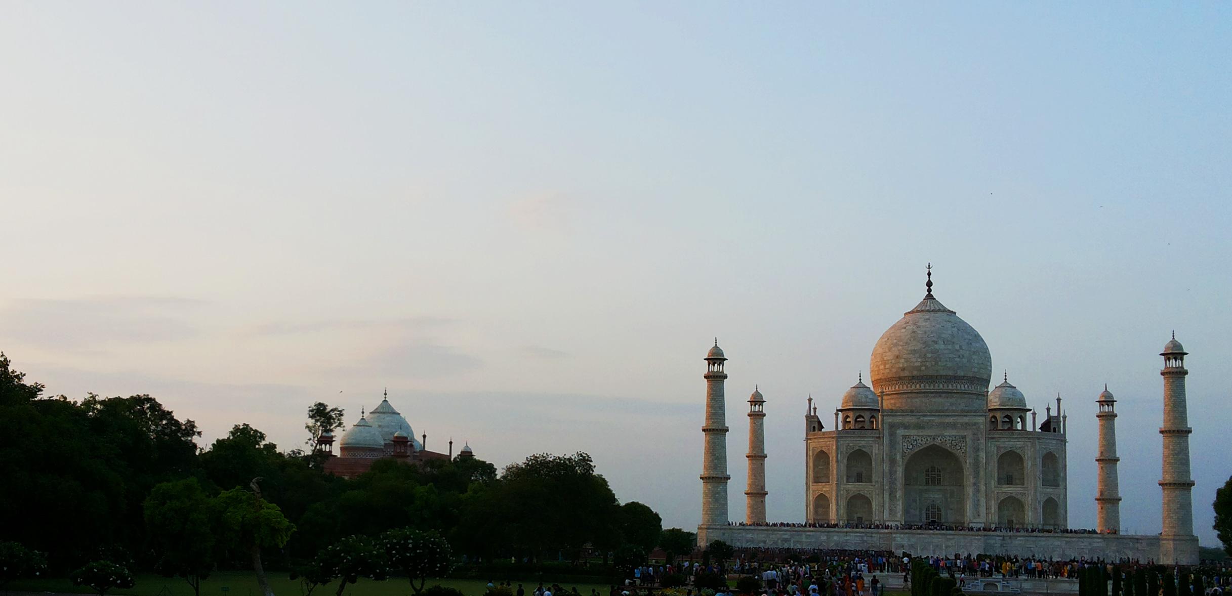 Taj mahal during evening