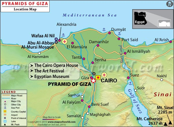 Pyramids Of Giza Travel Information History Location Entrance - Where is egypt