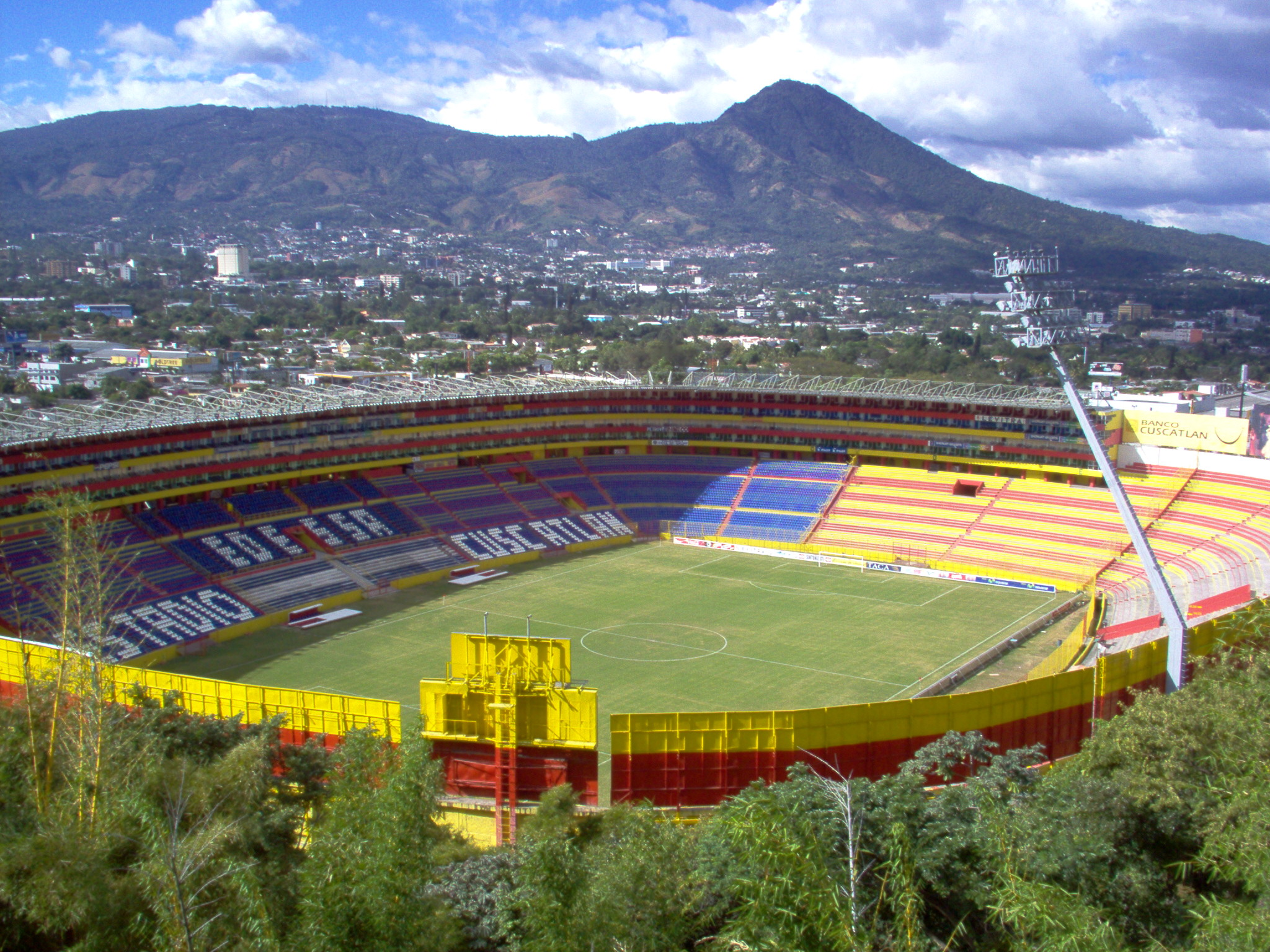 Estadio Cuscatlan is the biggest stadium in Central America