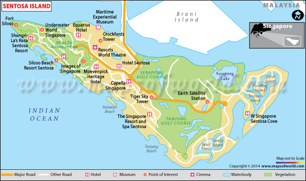 Sentosa Island Singapore Map Facts Location Best