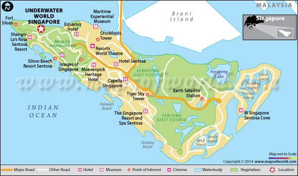 Underwater World Singapore(Sentosa Island) Map