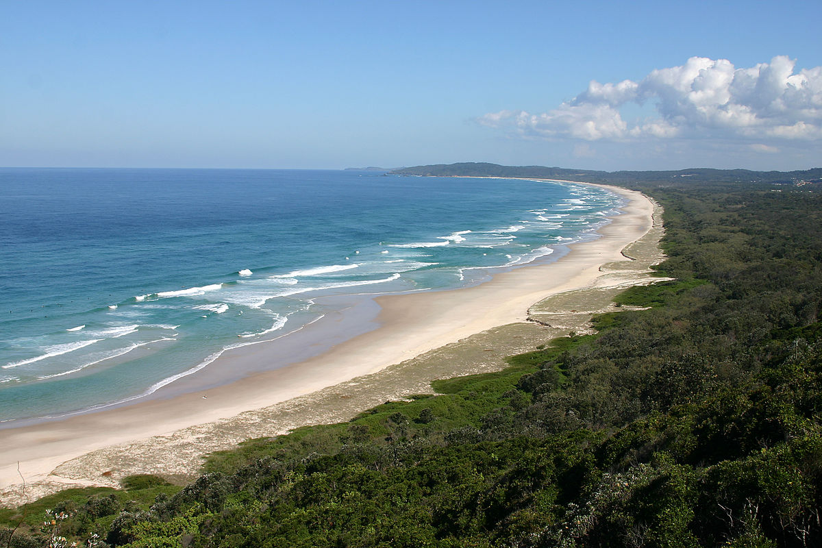 Byron Bay Beach offers raucous nightlife and is great for a leisurely stroll