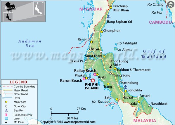 Pipi Island Map Phi Phi islands Thailand   Map, Things to do, Where is, Accommodation