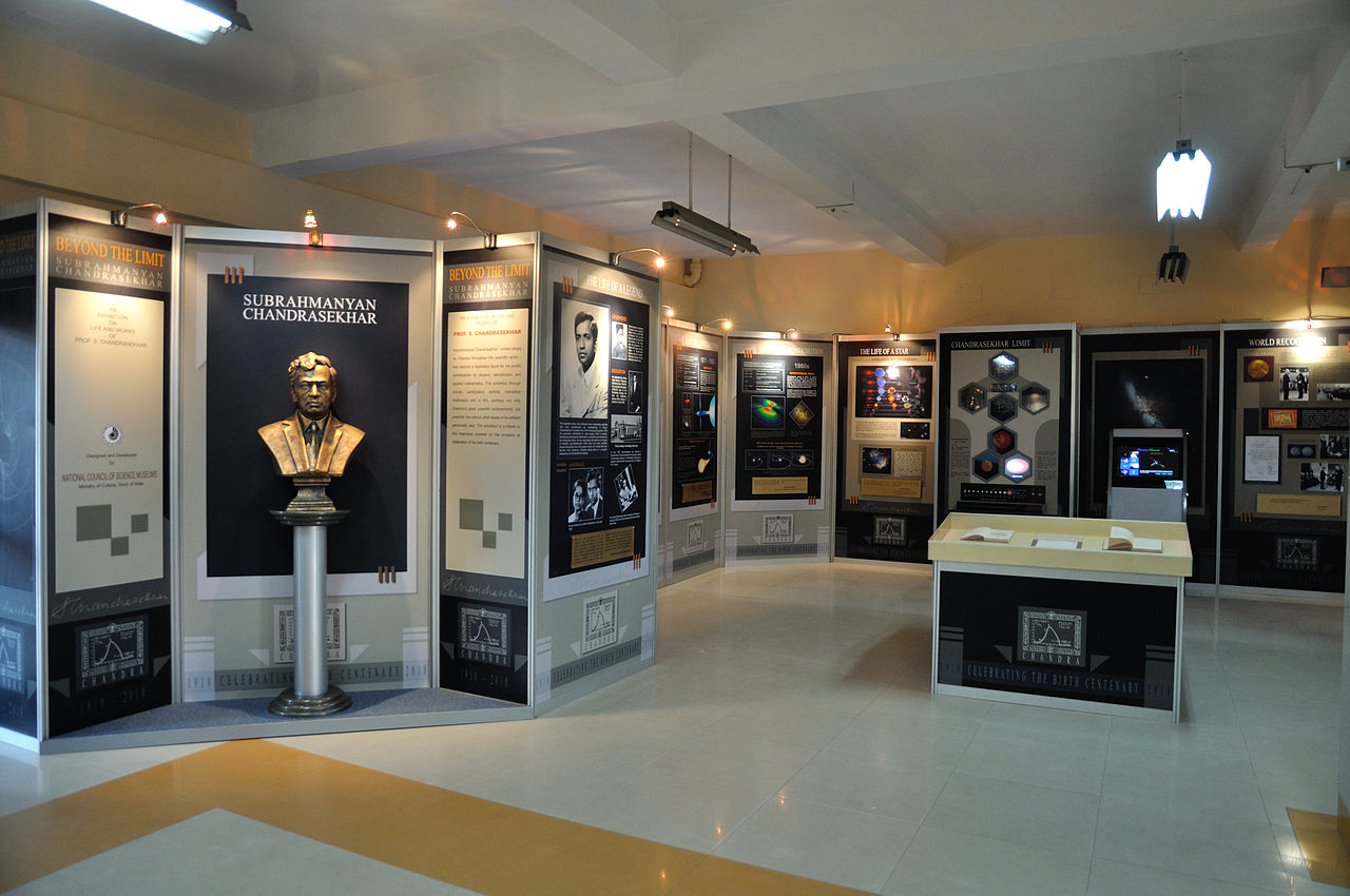 An exhibition on life and works of Subrahmanyan Chandrasekhar was held at Science City, Kolkata