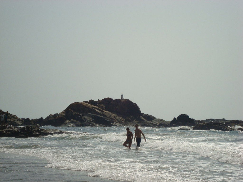 Calangute beach of Goa, India