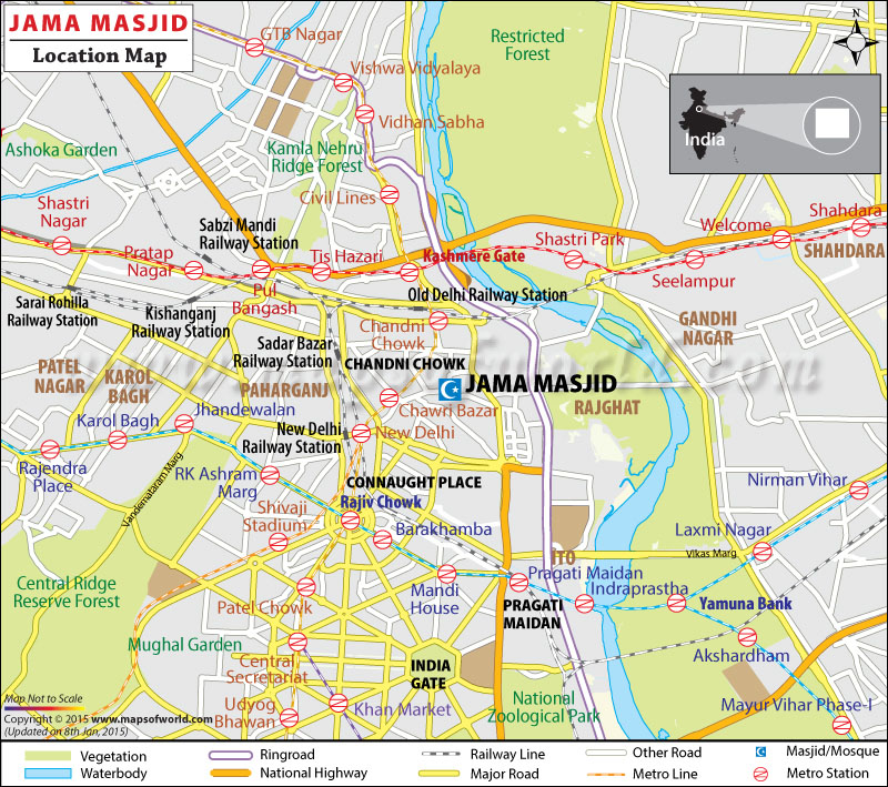 Jama Masjid Location Map