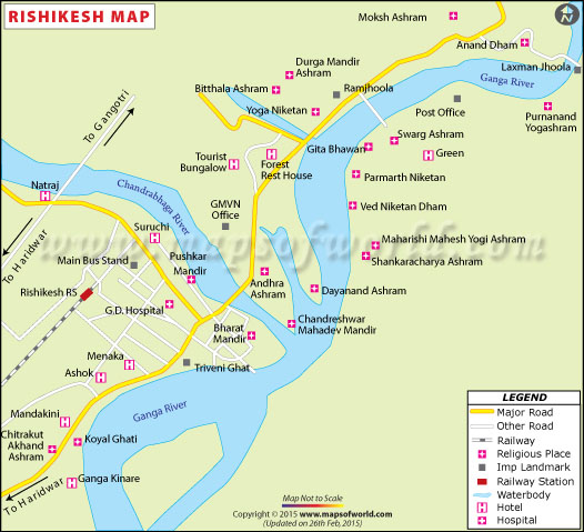 Rishikesh Location Map