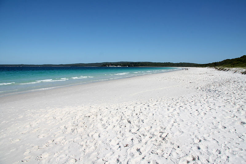 Hyams Beach in New South Wales
