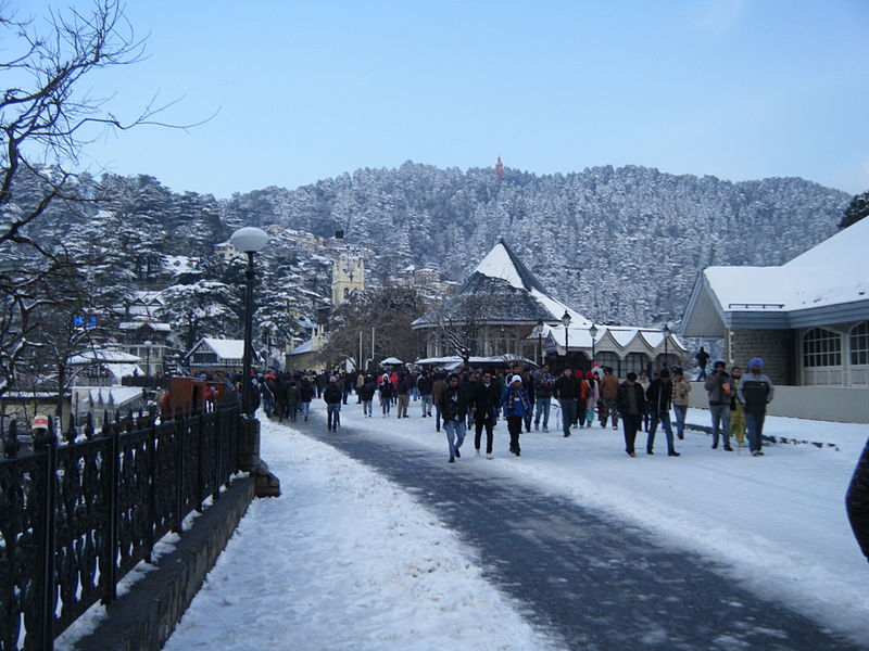 Tourist attractions in Shimla, India