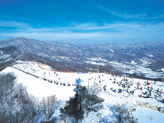 Yongpyong Ski Resort in South Korea