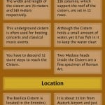 Infographic on Basilica Cistern