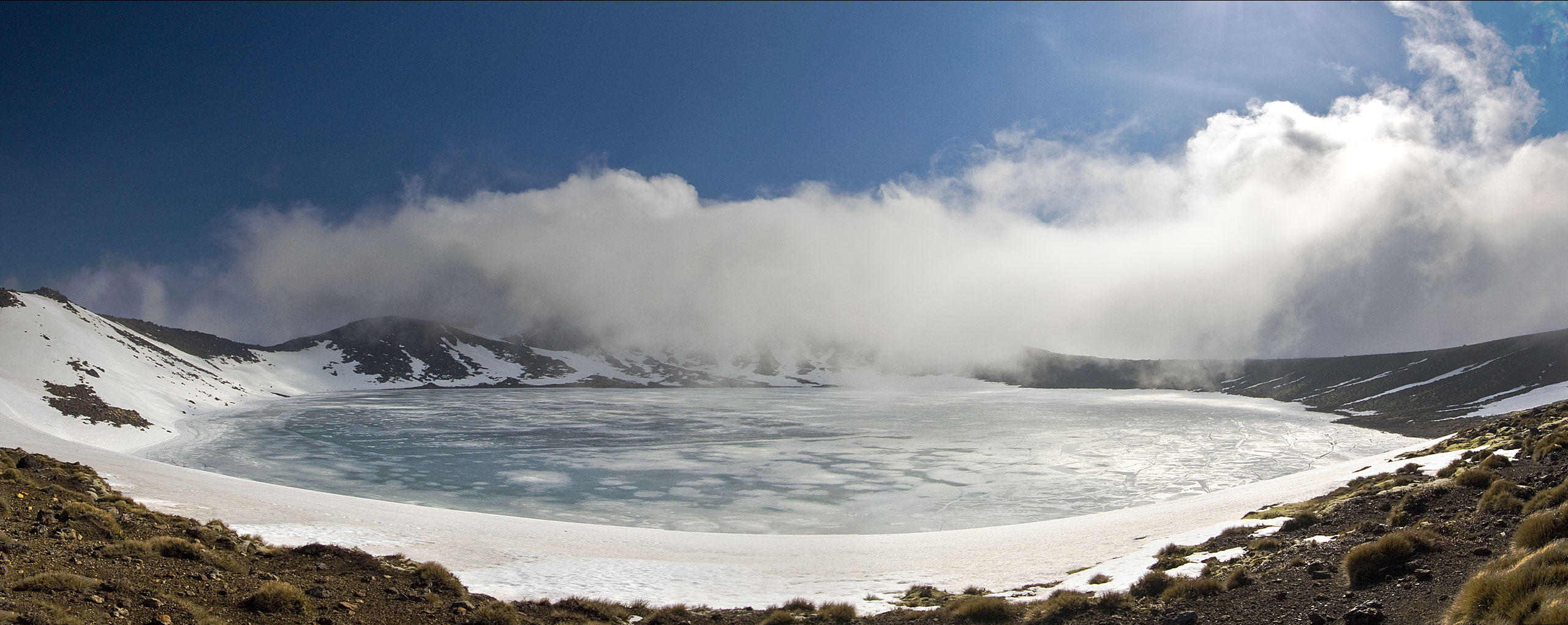 Blue Lake at Tongariro National Park