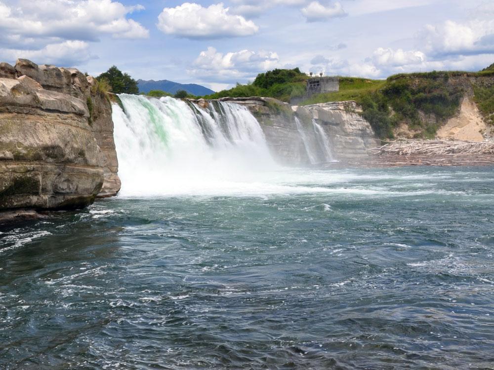 Maruia Falls in New Zealand