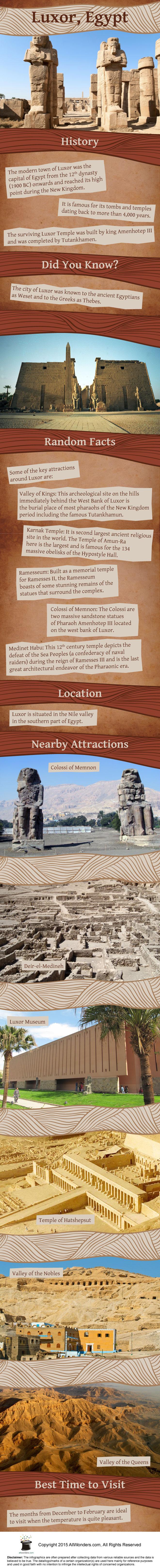 Luxor Egypt Infographics
