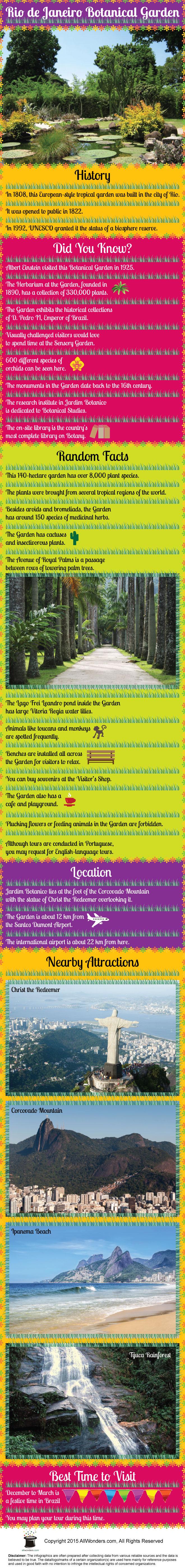 Rio Botanical Garden Infographic