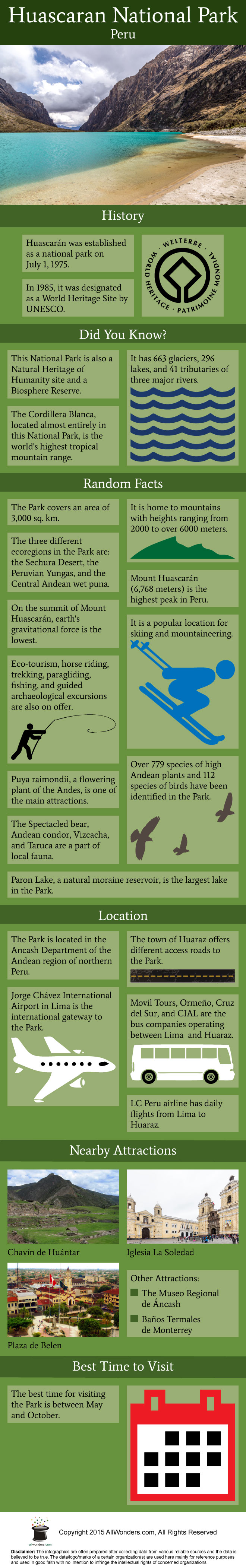 Huascaran National Park Infographic