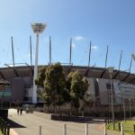 Majestic Ramparts of MCG with tall Light Towers