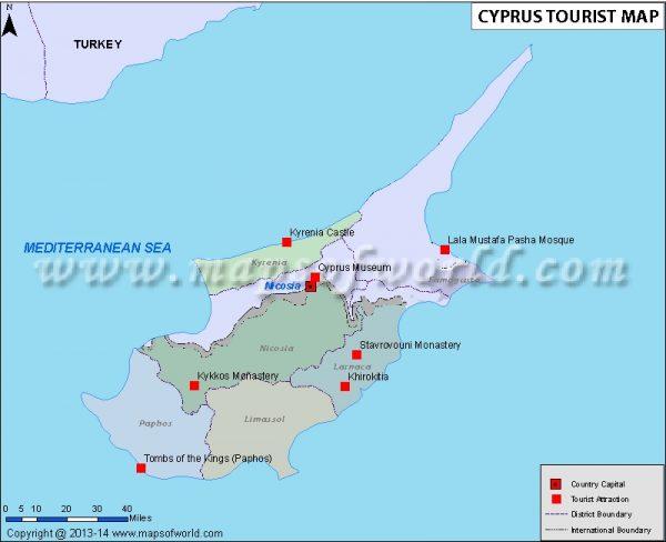 Cyprus Tourist Map