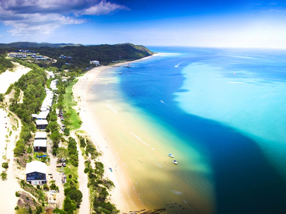 Moreton Island in Australia