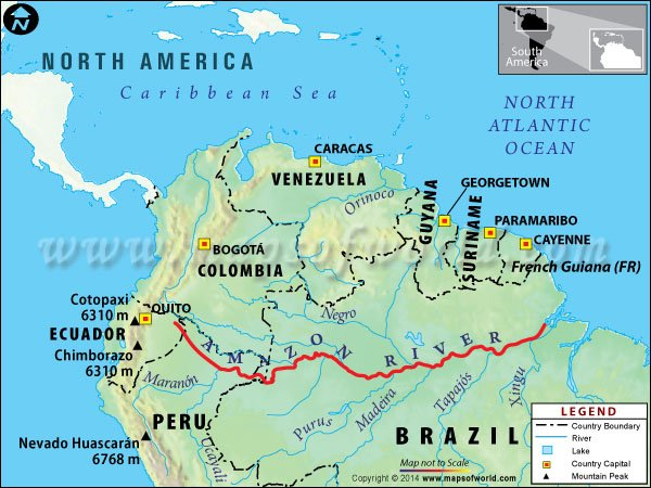 Map of the Amazon River