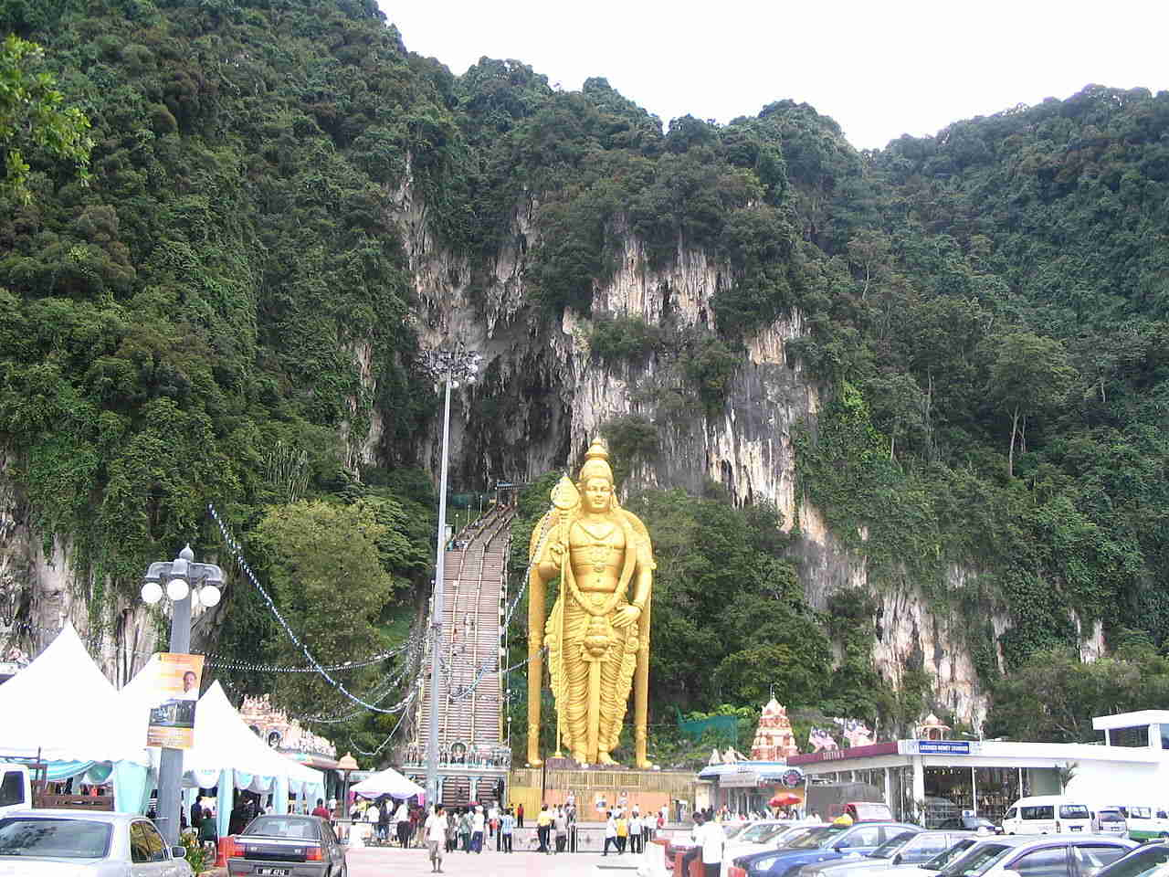 Entrance to the Batu Caves in Manalysia