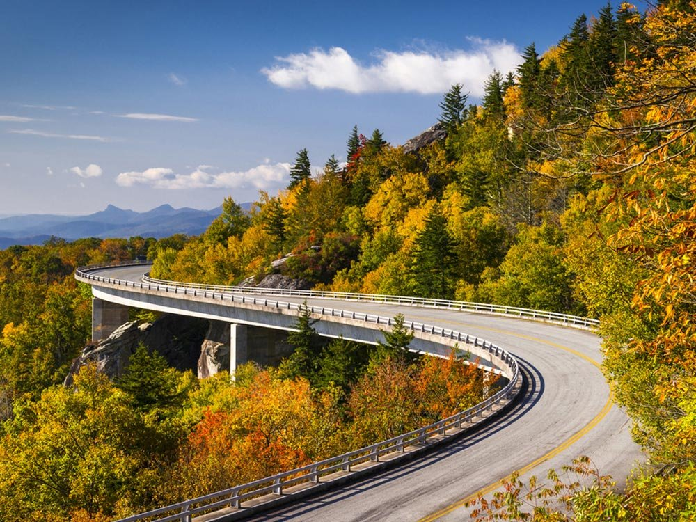 Blue Ridge Parkway in USA