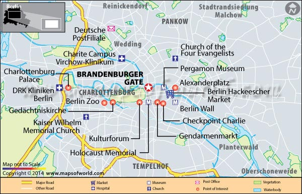 Brandenburger Gate Location Map
