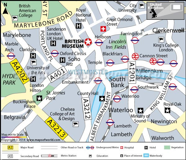 Location Map of British Museum