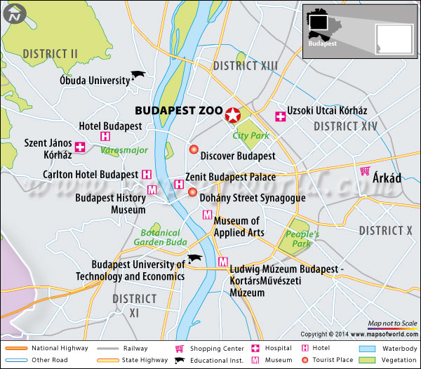 Location map of Budapest Zoo