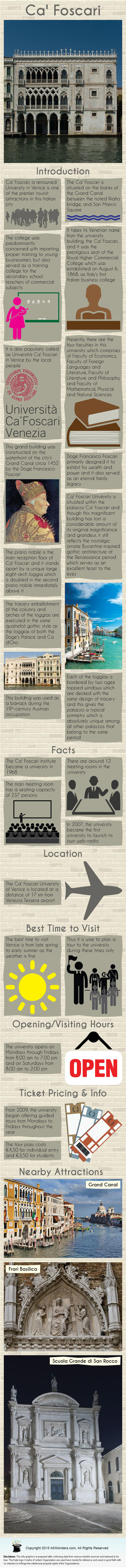Ca' Foscari University Infographic