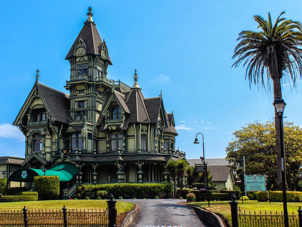 Carson Mansion in California
