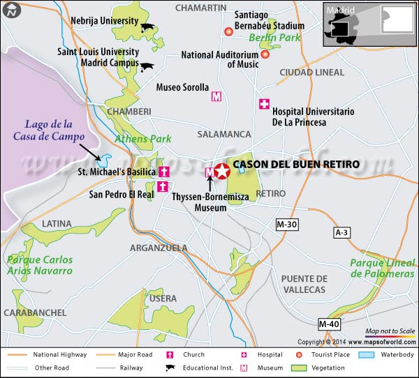 Location Map of Cason Del Buen Retiro