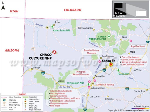 Map of Chaco Culture National Park