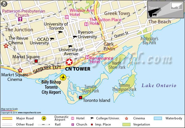 Location Map of CN Tower