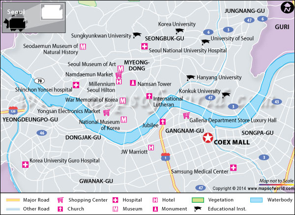 Location map of Coex Mall, Seoul